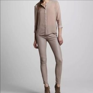J Brand French stretch lamb leather pants